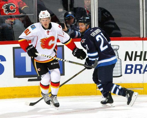 Brett Kulak in his NHL debut back on April 11, 2015 with the Calgary Flames.