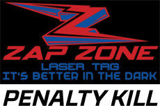 The Stockton Heat Penalty Kill is sponsored by Zap Zone Laser Tag on Hammertown Dr. in Stockton!