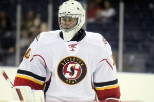 Goaltender Kent Simpson inked a deal with the Stockton Heat earlier this offseason
